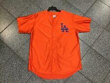 L NWOT VINTAGE Deadstock MLB Orange Los Angeles Dodgers Majestic Jersey