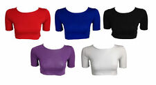 Short Sleeve Unbranded Fitted Tops & Shirts for Women