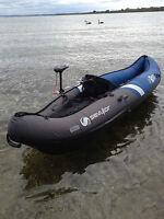 inflatable KAYAK SEVYLOR 1 Pers RIO canoe+motor