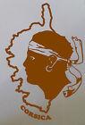 Sticker corsica tête de maure avec carte, pour voiture, moto, portable etc.....
