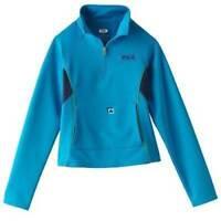 $34-Girls FILA Sport Performance Active Blue Stretch Pullover Spring Jacket-sz 7