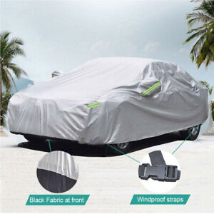 6 Layer Heavy Duty Car Cover Waterproof Dust UV Resistant Outdoor Universal L