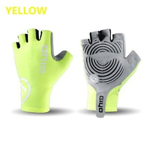 Giyo Anti Slip Gel Wind Cycling Half Finger Gloves Breathable Lycra Fabric Mitte