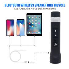 Multi-functional Bike Bluetooth Speaker With FM Radio MP3 Flashlight Power Bank