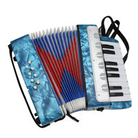 17 Key Piano Accordion Keyboard Instrument Gift for Children Light Blue