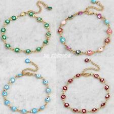 Fashion Women Lucky Evil Eye Jewelry Gold Chain Bracelet Enamel Bangle Gifts