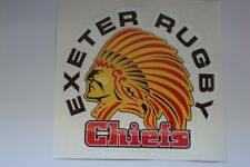 2 Exeter Chiefs Rugby Moto Adhesivos 100 Mm x 90 mm IOM TT cascos Honda