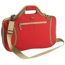 Lilypond FIRETHORN Padded Laptop Bag with Shoulder Strap in GERANIUM NWT!