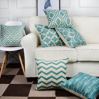 6PC/Set Home Decorative Pillowcase Cotton Linen Sofa Cushion Throw Pillows Cover