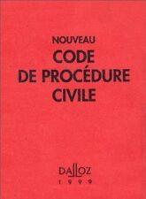 Collectif - NOUVEAU CODE DE PROCEDURE CIVILE. 91ème édition 1999 - 1999 - relié