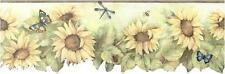 Sunflower with Olive Green Edge Wallpaper Border BG71364DC