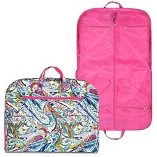 NEW Multicolor Paisley Print Hanging Travel Garment Bag Zipper Closure