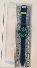 """Vintage 1991 Swatch """"Blue Moon"""" 200M Scuba Watch SDN100 Quartz"""