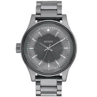 Nixon Women's Watch Facet Gunmetal Dial IP Steel Bracelet Lefty A384632