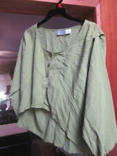 VINTAGE CASUAL CORNERS COLLECTION LIME GREEN 100% SILK SHIRT SIZE MEDIUM