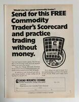 1975 Chicago Mercantile Exchange Trader's Scorecard Commodity Futures Print Ad