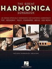 GRANDE Armonica Canzoni Spartiti Musicali LIBRO Diatonica bocca organo POP CHART Film Rock