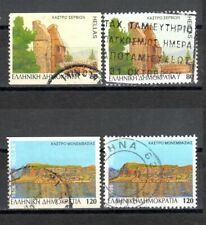 Greece 1996 Used Castles I Horiz. Imperforate & Perforated stamps
