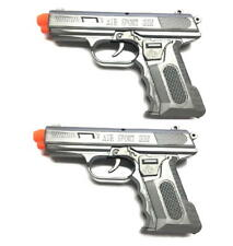 M11 Airsoft Pistols Set with Silver/Grey M11 Style Airsoft Gun Two Pack