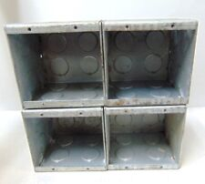 STEEL CITY MASONRY BOX, GW 235 G, 1/2-3/4 IN. ECCENTRIC KNOCKOUT, LOT OF 4