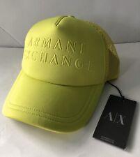 Armani Exchange Cap Hat Trucker Cap NEON GREEN NWT