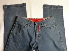 """ECKO RED Blue Denim Jeans Size 23 Waist 26"""" Inseam 32"""" Dungarees Pant"""