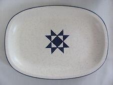 "Fabrik Jim McBride Seattle- American Quilt-Blue Star -12"" Oval Serving Platter"