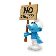 Smurfs pas de Stress Sign - les Schtroumpfs Statue Plastoy