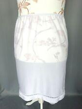 Jupon satin blanc dentelle nylon vintage parfait TailleFR46 US14 UK18 EUR44