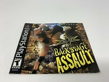 WCW BackStage Assault - PS1 Playstation 1 PS One - Instruction Manual Only
