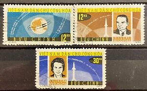 VIETNAM - SPACE - LOT OF 3 USED STAMPS