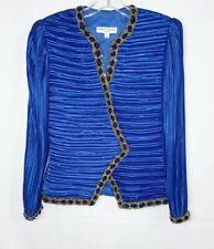 George F. Couture Hand Beaded Sequin Bolero Crop Shrug Jacket Size 4