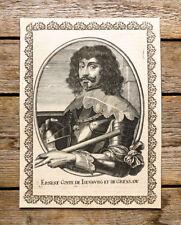 c1650 Ernst Isenburg-Grenzau Generalgouverneur Niederlande Kupferstich Portrait