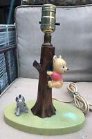 Vintage WINNIE THE POOH TABLE LAMP NURSERY PORCELAIN EEYORE Disney