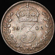 More details for 1902   edward vii threepence   silver   coins   km coins