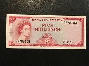 JAMAICA  5 Shillings  1960 (1964)  -- High Grade!