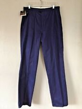 Vintage 1990s Eddie Bauer Sport Men's Navy Blue Cotton Pants Large 34 x 35 Nos