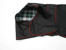 "26"" 66cm Black Waterproof Greyhound Coat Mac Green & White Checked Cotton Lining"