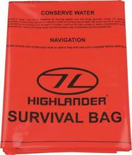 Highlander emergency orange survie sac bivouac taille 90cm x 180cm camping randonnée