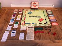 Vintage Monopoly Set 1930s -1940s Waddington Ltd Board Game Rare
