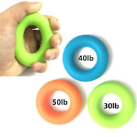 Hand Finger Wrist Grip Forearm Strength Exerciser Trainer Ring Resistance Band
