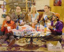 THE BIG BANG THEORY CAST AUTOGRAPHED 8x10 RP PHOTO KALEY CUOCO GALECKI PARSONS