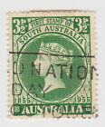 (W1127) 1955 AU 3½d green SA centenary of first stamp (D)