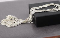 """Quality Nickel Free 12 pcs 1.2mm Silver Plated Snake Necklace Chains 16-18 """""""