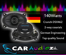 """Crunch DSX462 6""""x 4"""" 2 Way Coaxial Car Speakers Custom Fit, Top Sound, Bargain!!"""
