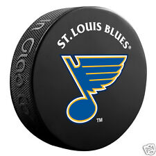 ST. LOUIS BLUES Basic Team Logo Model SOUVENIR PUCK NEW In Glas Co.