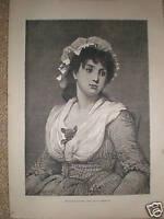 The Vicar's Daughter G D Leslie 1878 print