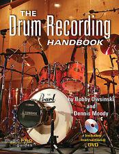 The Drum Recording Handbook + Dvd Set New
