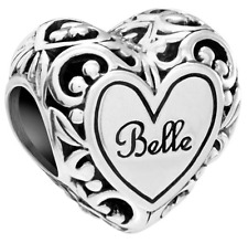 Chamilia Disney Beauty and the Beast Belle's Heart Bead **Genuine & Brand New**
