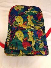 Plastic Parrot Designed Embroidered Backpack Colorful Bag